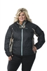 DSG Plus Size Fleece Jacket - Realtree Xtra- Black/ Aqua