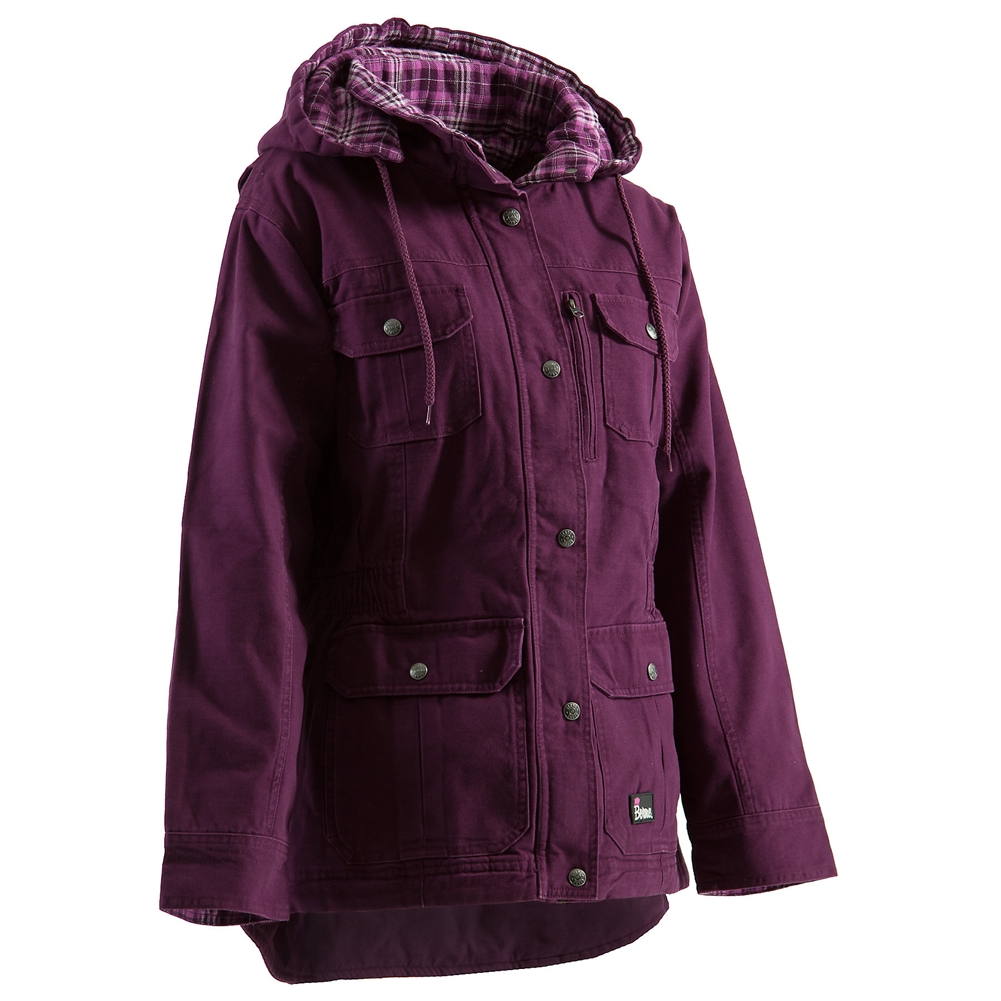 Berne Plus Size Ladies Quilted Barn Coat Wch65 Alpinecurves