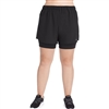 Champion Women's Plus Size Stretch Woven 2 In 1 Shorts | QM0255