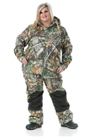 DSG Ella Plus Size Fleece Hunting Jacket - Realtree Edge