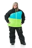 DSG Verge Plus Size Jacket - Black/ Blue/ Lime