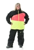 DSG Verge Plus Size Jacket - Black/ Pink/ Yellow