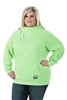 DSG Plus Size Side Tie Hoodie - Green
