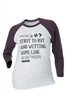 DSG Strut to Rut Plus Size Raglan Tee - White/ Purple
