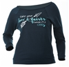 Bow and Quiver Plus Size Terry Raglan - Navy