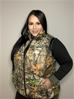 DSG Plus Size Puffer Vest - Realtree Edge