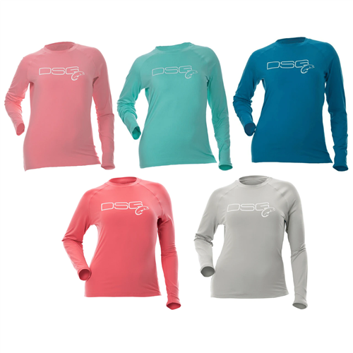 DSG Plus Size Fishing Solid Shirt - UPF 50 - Salmon, Sea Blue, or Aqua