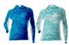 DSG Plus Size Fishing Wave Shirt - UPF 50 - Sea Blue or Aqua