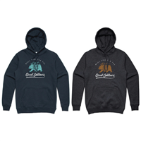 DSG Bearscape Plus Size Hoodie - Navy or Charcoal Heather