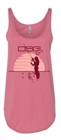 DSG Sunset Fishing Plus Size Tank - Desert Pink