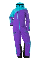 DSG Plus Size Mono Suit - Purple/ Teal