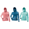 DSG Plus Size Hooded Fishing Shirt in the Realtree Fishing Pattern in Salmon, Navy, or Aqua Colorways