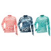 DSG Plus Size Kai Fishing Shirt in the Realtree Wav3 Pattern in Salmon, Navy, or Aqua