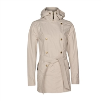 Pulse Women's Trench Rain Coat - Glacier White | 29-801