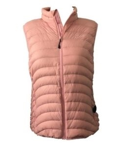 Pulse Plus Size Packable Powder Vest - Pink