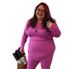 Ottomatic Threads Plus Size Base Layer Top - Fuchsia