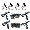 Four Place Crew AR550 Intercom W/ Four DIGITAL S9 Helmet Kits