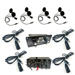 Four Place Off Road AR550 Intercom W/ Four DIGITAL S9 Helmet Kits