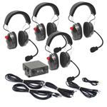 Four Place Intercom Communication w/ 4 Headsets