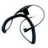 Headset or Helmet Wired Coil Cord to Motorola Radio With In-Line PTT