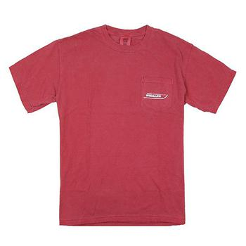 Comfort Color Pocket Tee - Crimson