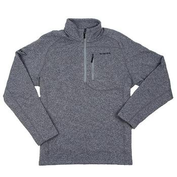 Simms Rivershed 1/4 Zip Sweater - Steel Grey