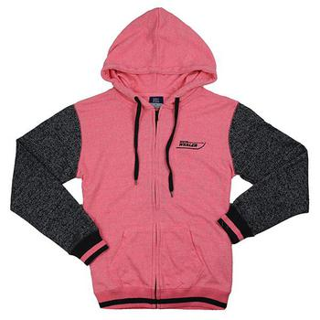 Ladies Terry Full Zip Jacket - Cotton Candy