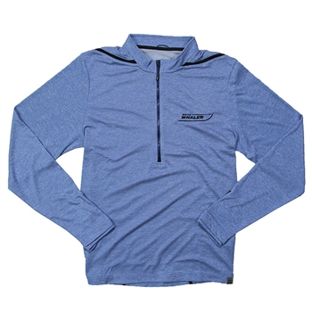 Dege 1/2 Zip Pullover - Blue Heather