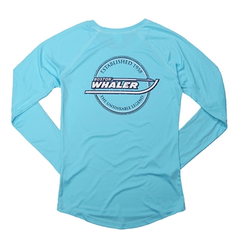 Ladies LS Solar Tee - Water Blue