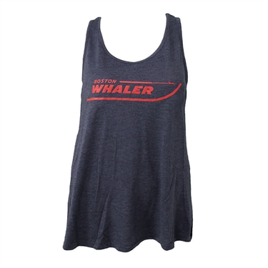 Ladies Flowy Tank - Navy Heather