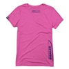 Ladies V-Neck Tee - Heather Pink Raspberry