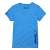 Ladies V-Neck Tee - Heather Turquoise