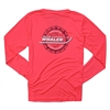 Women's Gravity LS Sun Tee - Hot Coral