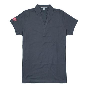 60th Anniversary Ladies Y-Neck Polo - Steel Grey