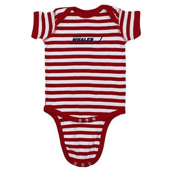 Infant Romper - Red / White Stripe