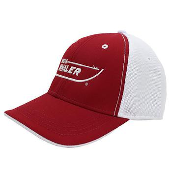 Textured Performance Cap - Cardinal / White