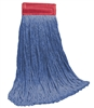 <!f>Wholesale Wet Mops - <strong>CUT END | BLUE BLEND | WIDE BAND | 24 OZ | 12/Case</strong>