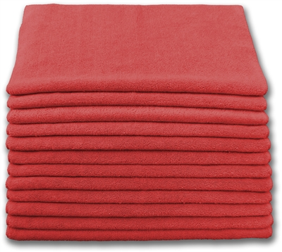 "<!e>Wholesale Microfiber Cloths - Lightweight <strong>12"" x 12"" 