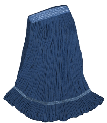 <!c>Wholesale Wet Mops - <strong>PREMIUM BLEND | LOOPED END | NARROW BAND | X-LARGE | BLUE | 12/Case</strong>