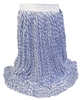 <!a>Wholesale Finish Mops - <strong>BLUE/WHITE RAYON | NARROW BAND | MEDIUM | 12/Case</strong>