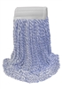 <!d>Wholesale Finish Mops - <strong>BLUE/WHITE RAYON | WIDE BAND | MEDIUM | 12/Case</strong>