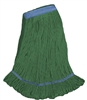 <!eee>Wholesale Wet Mops - <strong>PREMIUM BLEND | LOOPED END | NARROW BAND | X-LARGE | GREEN | 12/Case</strong>