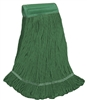 <!f>Wholesale Wet Mops - <strong>PREMIUM BLEND | LOOPED END | WIDE BAND | MEDIUM | GREEN | 12/Case</strong>