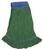 <!fff>Wholesale Wet Mops - <strong>PREMIUM BLEND | LOOPED END | WIDE BAND | X-LARGE | GREEN | 12/Case</strong>