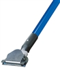 "<!r>DOZEN--- 1"" X 60"" CLIP-ON STYLE DUST MOP HANDLE - <strong>BLUE</strong> FIBERGLASS HANDLE"