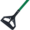 "<!l>DOZEN--- 1"" X 60"" PLASTIC BAR STYLE WET MOP HANDLE - <strong>GREEN</strong> FIBERGLASS HANDLE"