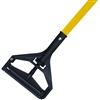 "<!p>DOZEN--- 1"" X 60"" PLASTIC BAR STYLE WET MOP HANDLE - <strong>YELLOW</strong> FIBERGLASS HANDLE"