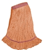 <!gg>Wholesale Wet Mops - <strong>PREMIUM BLEND | LOOPED END | NARROW BAND | LARGE | ORANGE | 12/Case</strong>