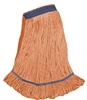 <!ggg>Wholesale Wet Mops - <strong>PREMIUM BLEND | LOOPED END | NARROW BAND | X-LARGE | ORANGE | 12/Case</strong>