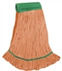 <!i>Wholesale Wet Mops - <strong>PREMIUM BLEND | LOOPED END | WIDE BAND | MEDIUM | ORANGE | 12/Case</strong>